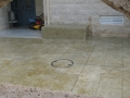 ספסל מוטבע בשיטת הטבעת בטון