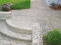 מדרגות בטון מוטבע מעוגלות