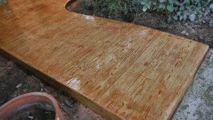 ריצוף בטון דמוי דק עץ אורן