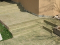 מדרגות בטון פינתיות