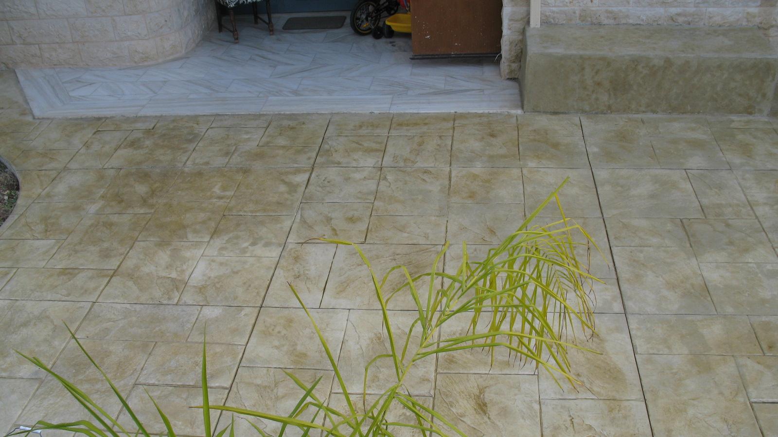 רצפת בטון דמוי צפחה גדולה