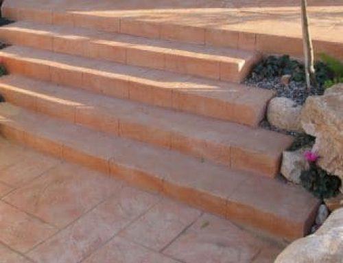 מדרגות בטון מוטבע בומנייט